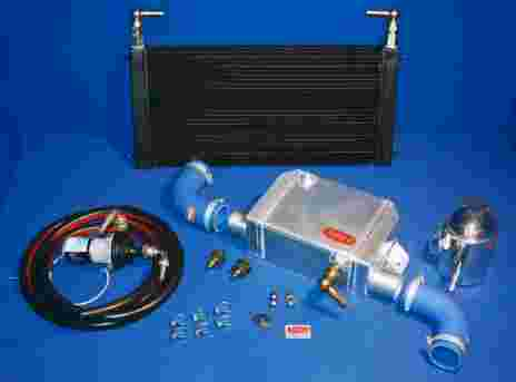 Water to air intercooler systems